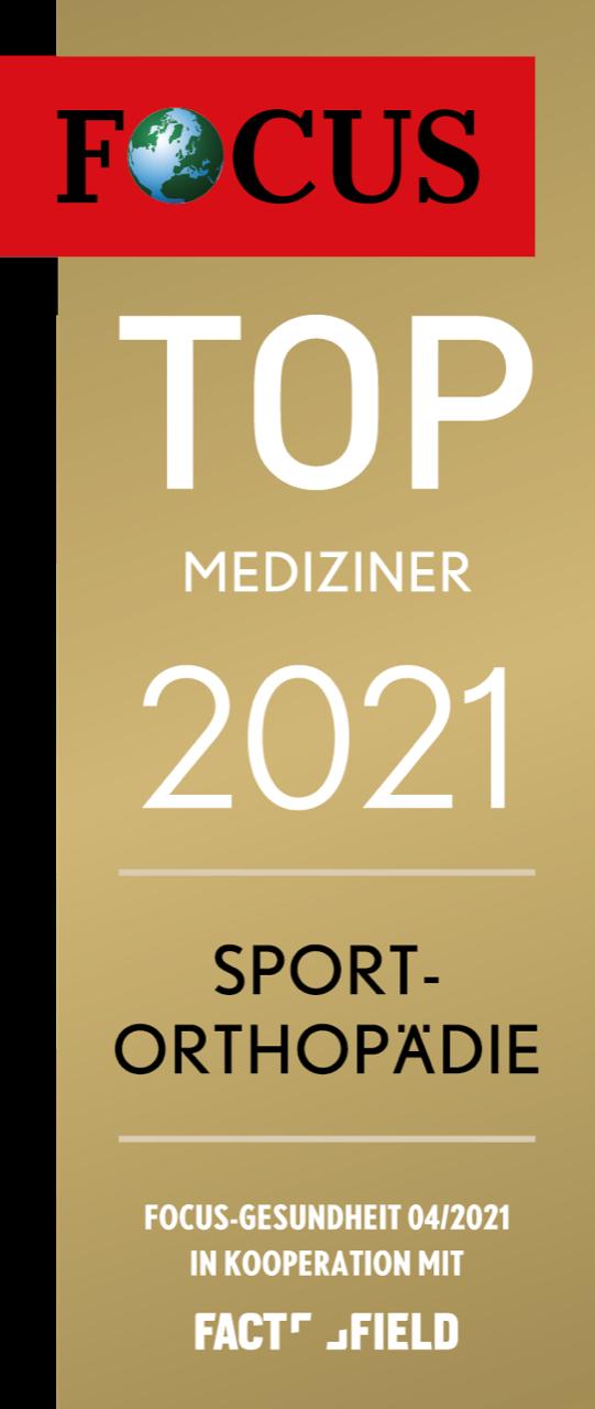 Focussiegel Sportorthopädie 2021